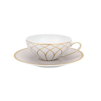 Vista Alegre Terrace Tea Cup and Saucer (Set of 4)