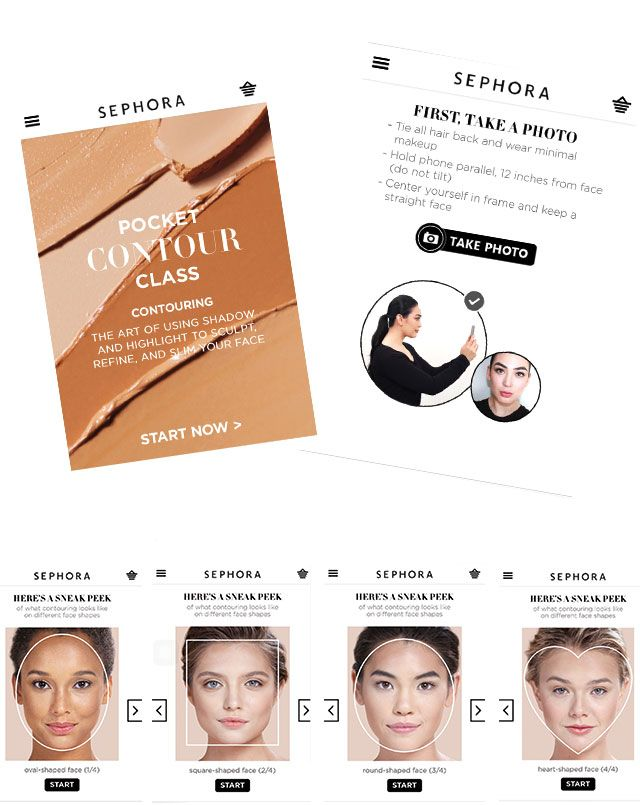 Best new app from Sephora for contouring -using your selfie
