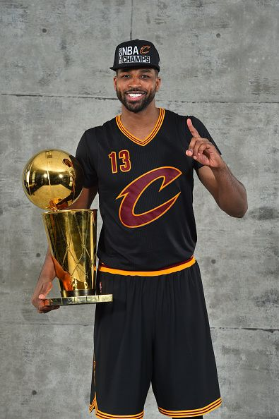 Tristan Thompson of the Cleveland Cavaliers poses for a portrait after winning the NBA Championship against the Golden State Warriors during the 2016...