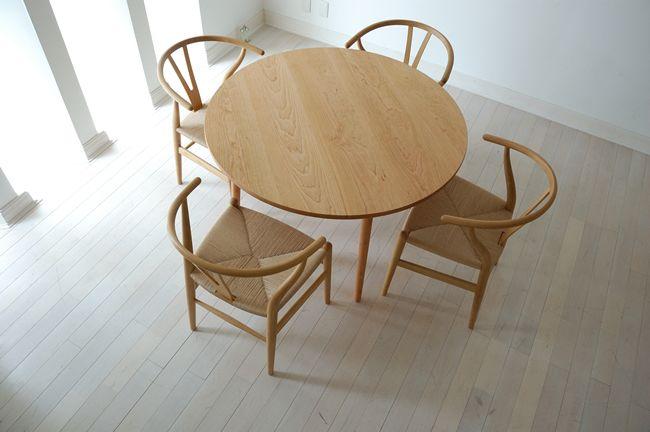 チェリー丸ダイニングテーブル(4本脚) 直径110cm / カグオカ