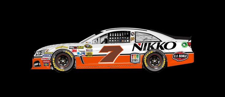 2016 Darlington throwback paint schemes | Regan Smith No. 7 Tommy Baldwin Racing Chevrolet