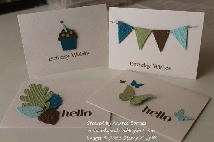 Simple notecard set by andib_75 - Cards and Paper Crafts at Splitcoaststampers