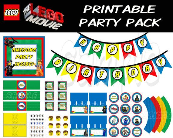 LEGO MOVIE PARTY PACK  Lego Movie  Printable  Instant by JustAddFrosting, $15.00