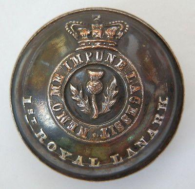 Victorian Officers 1st Royal Lanark Militia. Silvered Button. 25mm.   eBay