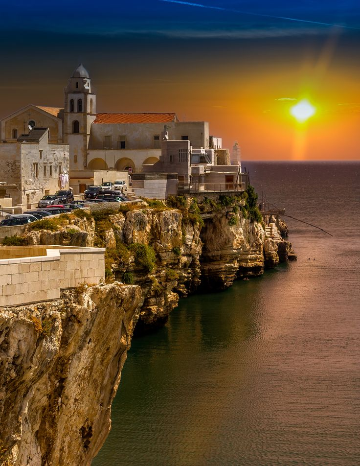 Sunset on Vieste / Italy  by leker / 500px