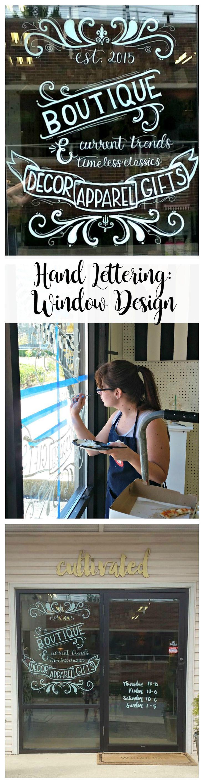 Hand Lettering: Shop Window - One Artsy Mama