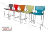 Bar or counter height Stool. Chrome frame with Leather Seat $199   Black, White, Chocolate Brown, Rust, Red, Turquoise, Grey and Kiwi   #Barstool