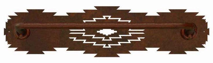 Ironwood Industries southwestern desert diamond hand towel bar southwest decor bathroom american made