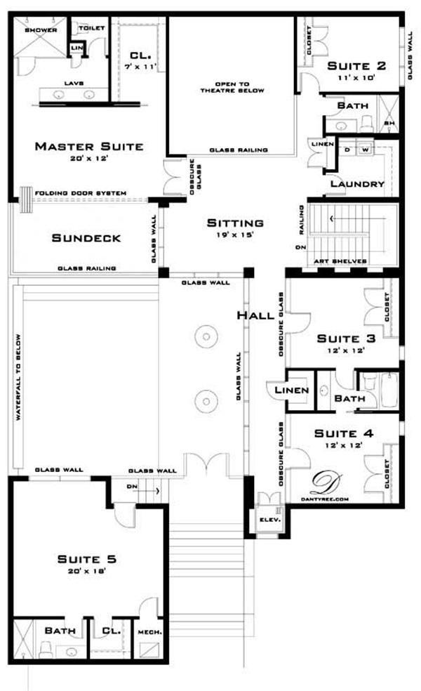 Beautiful Floor Plan Modern Family House Photos - 3D house designs ...