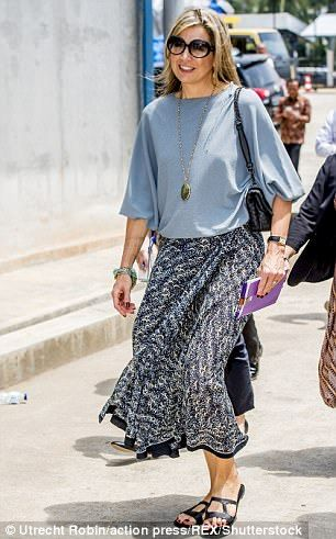 Queen Maxima of the Netherlands visits Indonesian farmers   Daily Mail Online