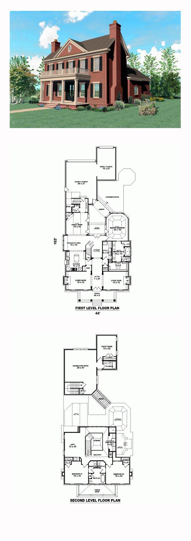 Plantation Southern House Plan 47234 50 best