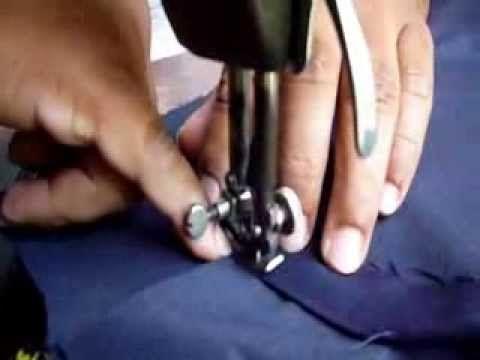 Pantalón: Bolsillo de un ribete. - YouTube