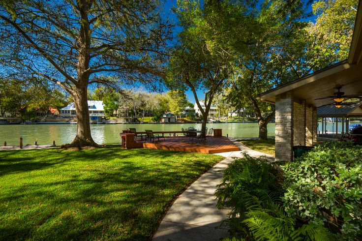#waterfrontwednesday: Beautiful Waterfront Home on Lake McQueeny • Listed by John Harper