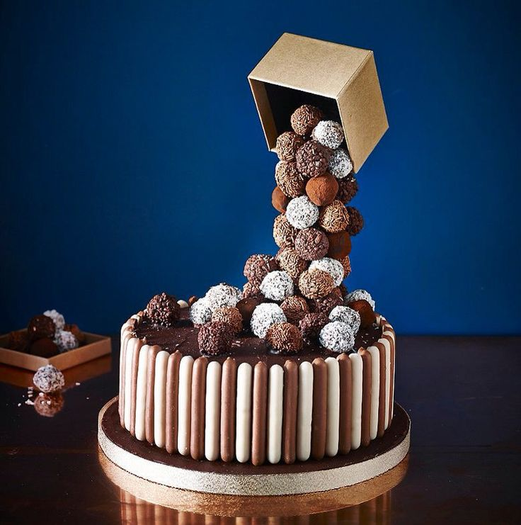 Anti-gravity cake ideas - Our post includes this stunning 'Pouring Cake' a Malteser Floating Cake, M&M's Gravity Cake and more.