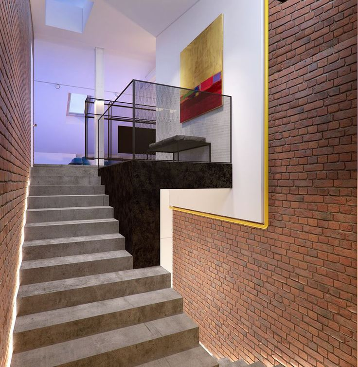 17+ Best Images About Exposed Brick Staircase On Pinterest