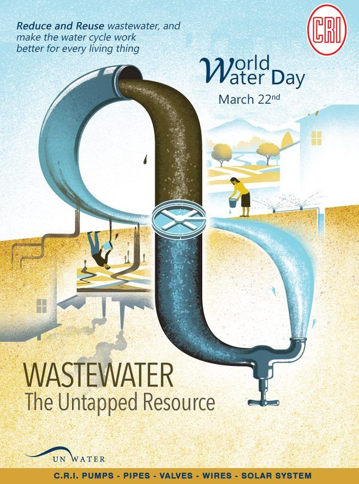 World Water Day 22nd March Reduce and Reuse Waste Water #savewater #worldwaterday #CRIpumps