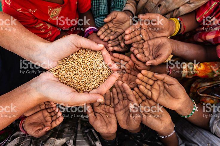 Hungry African children asking for food, Africa royalty-free stock photo