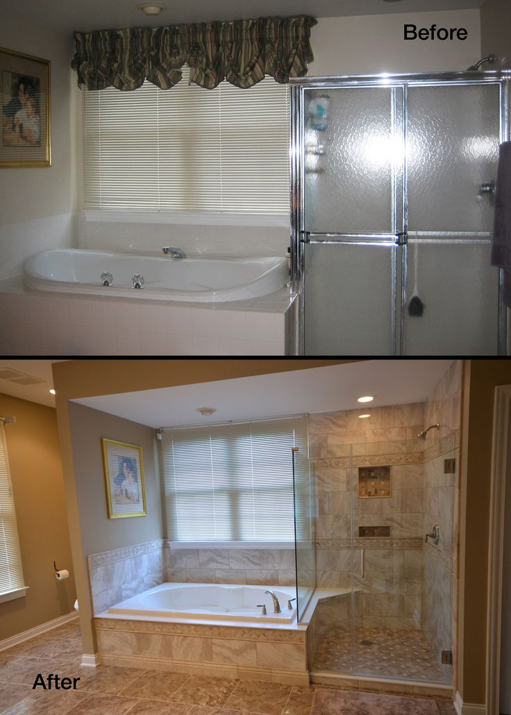 20 best images about before and after bathroom remodel on for Best bathroom renos