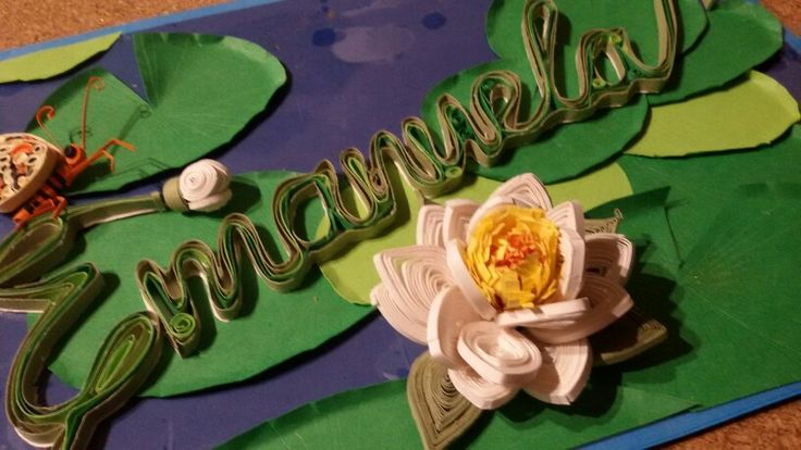 Lotus Flower, paper quilling, Lotus quilling, butterfly, watertiles, filigrana di carta, ninfea, farfalla, fiori di carta
