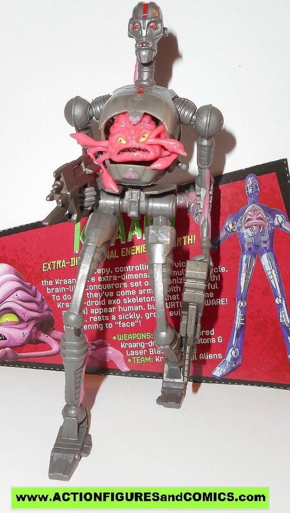 Playmates toys action figures for sale to buy: TEENAGE MUTANT NINJA TURTLES TMNT (Nickelodeon series) 2012 KRAAG / KRANG android body 100% COMPLETE (even includes portrait file card) condition: Overal
