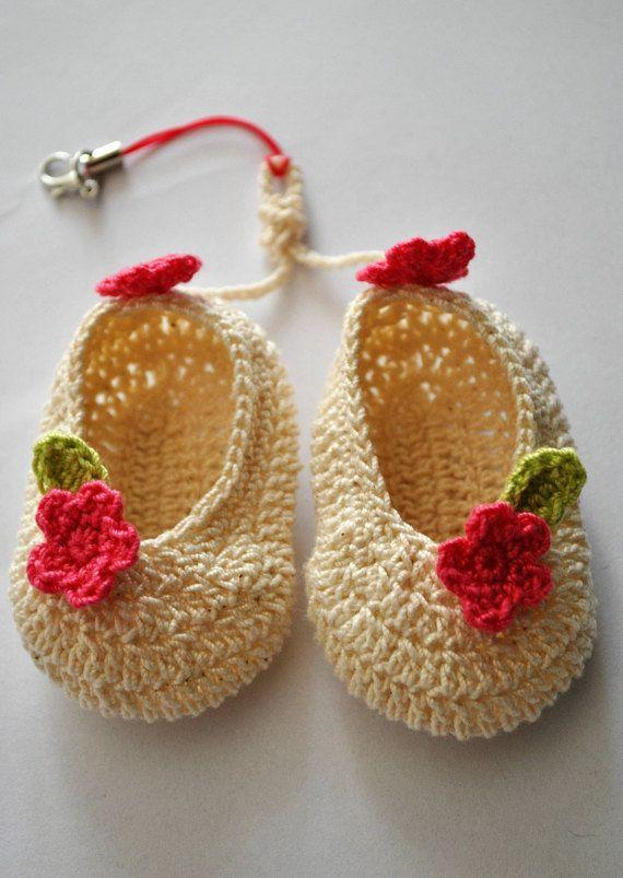 Bag charmCrochet baby booties ornamentCrochet Handmade  gift