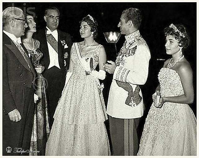 H.M. Shah Mohamed Reza , Empress Soraya & His Eldest Daughter Princess Shahnaz Pahlavi
