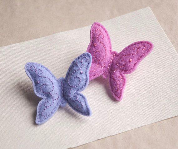 Butterfly  felt brooch by suyika on Etsy