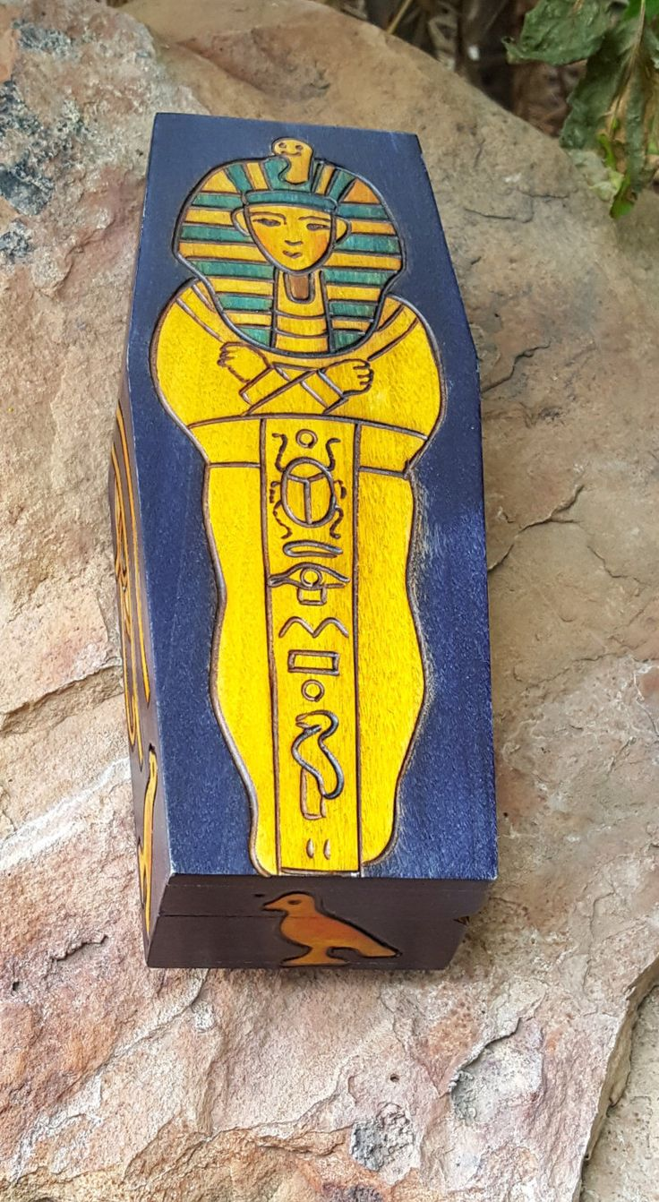 King Tut Sarcophagus Coffin Box~Egyptian Revival Box~Handcrafted Wood Trinket Box Poland~Egypt Motif Pen Case~Vivid colors! JewelsandMetals by JewelsandMetals on Etsy https://www.etsy.com/listing/484329109/king-tut-sarcophagus-coffin-boxegyptian