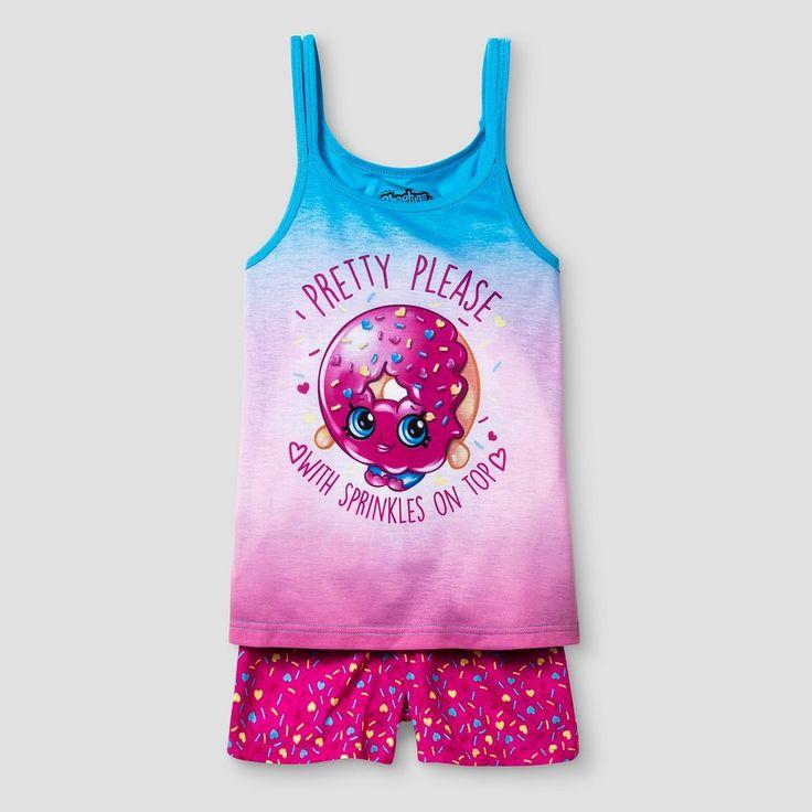 Girls' Shopkins Pajama Set - Pink S, Girl's, Size: S (6-6X)