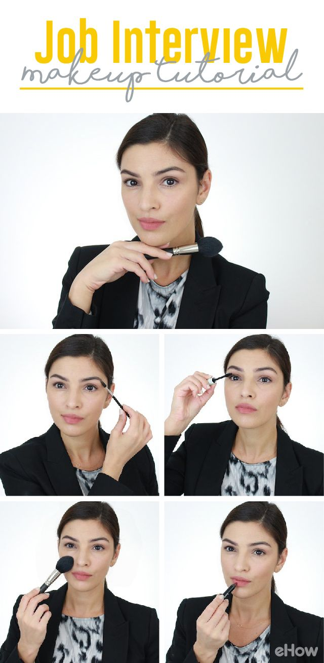 Making a great first impression at a job interview may play an important part in the hiring decision, and the right look (outfit, hair, and makeup) can certainly make a difference. A very simple but polished makeup look can ensure that your professionalism and skills (not your makeup) are going to get all the attention. http://www.ehow.com/how_2110008_wear-makeup-job-interview.html?utm_source=pinterest.com&utm_medium=referral&utm_content=freestyle&utm_campaign=fanpage