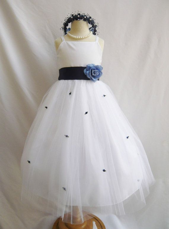 75 best dark blue and red winter wedding images on pinterest flower girl dress white w blue navy rb3 wedding by mykidstudio 3400 mightylinksfo