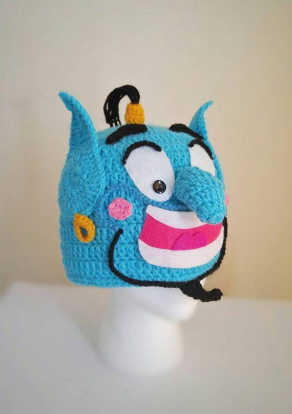 Genio Aladdin Genie sombrero traje de genio del ganchillo