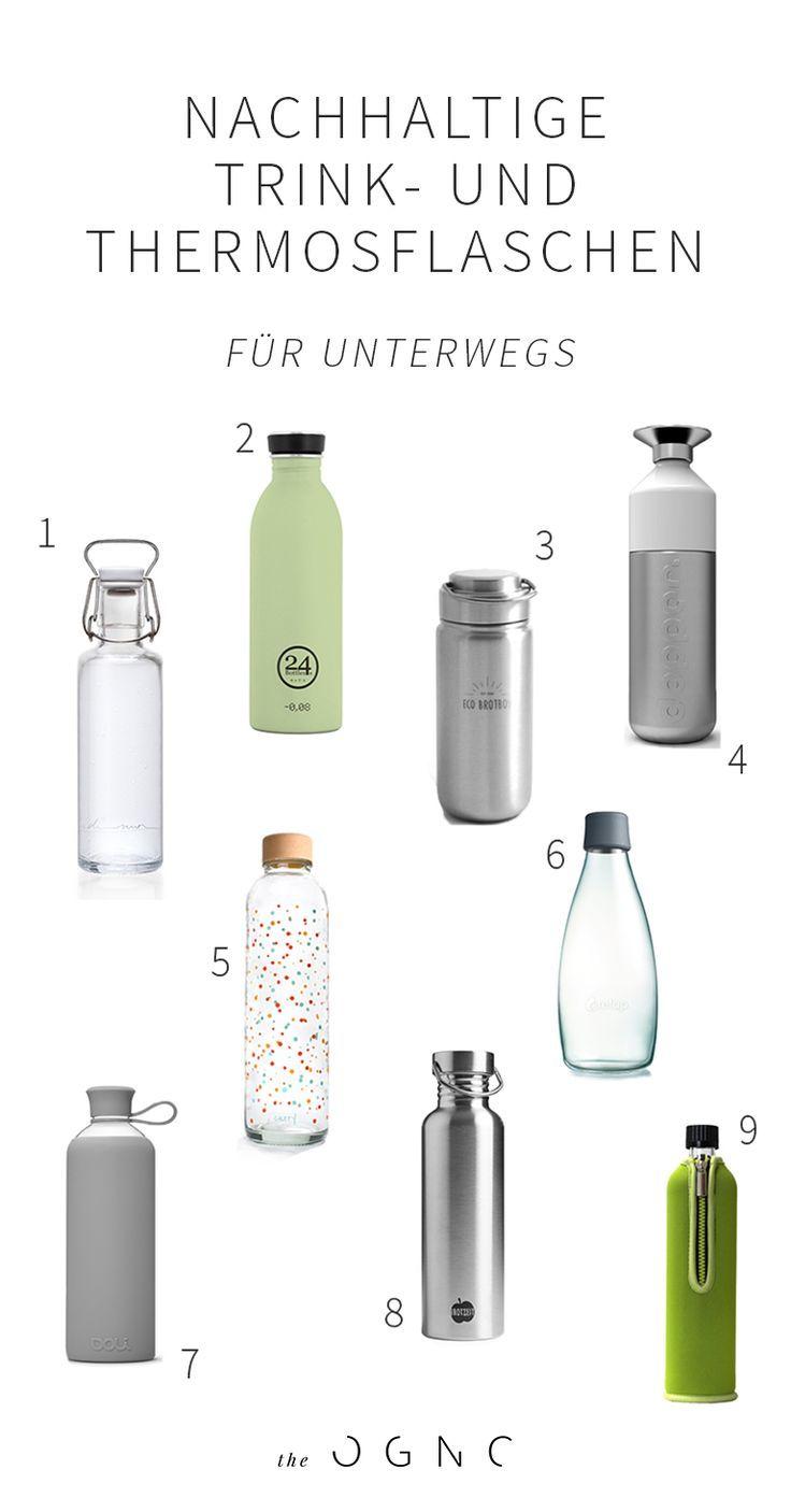 20 nachhaltige Trinkflaschen und Thermoskannen für unterwegs