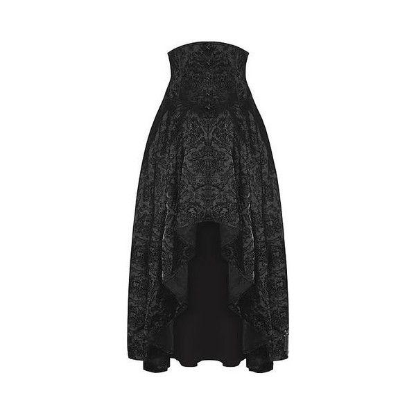 Skirts via Polyvore featuring skirts, mini skirts, gothic skirt, short mini skirts, hello kitty skirt, short long skirts and goth skirt