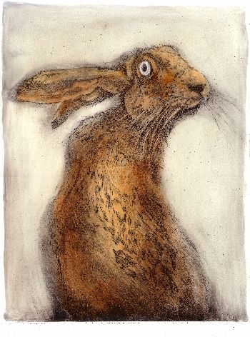 Psycho Rabbit. Drypoint #rabbit #illustration #painting