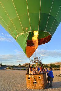 Passeio de balão de ar quente ao nascer do sol em Las Vegas #viagem #turismo