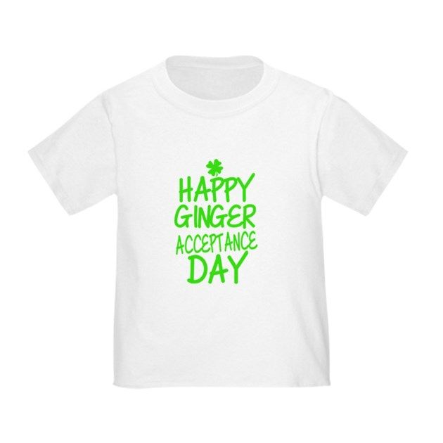 Ginger Acceptance Day T Shirt  #redhead #gingers #stpatty #stpatricksday #typography #quotes #slogans #funny #humor #shirts #green #irish #toddler