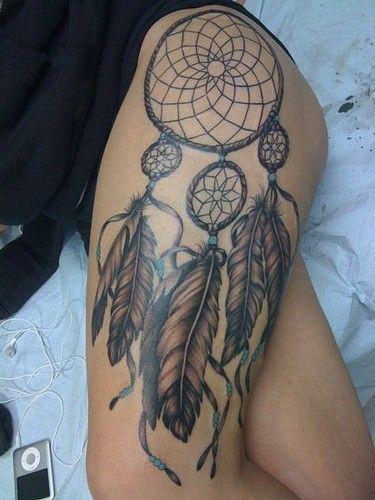Sexy dream catcher tattoo thigh tattoo design tattoo patterns| http://tattoo781.blogspot.com
