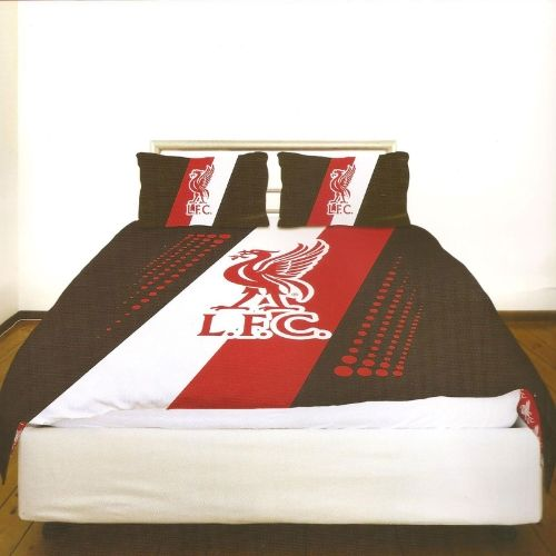 Liverpool FC Stripe Crest Double Duvet Cover - Bedding - Available now - Play-rooms - Free Delivery - More matching items available