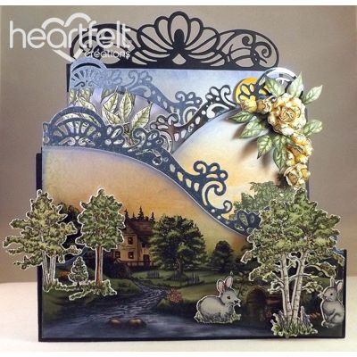 Heartfelt Creations - Woodsy Landscape Foldout Card Project