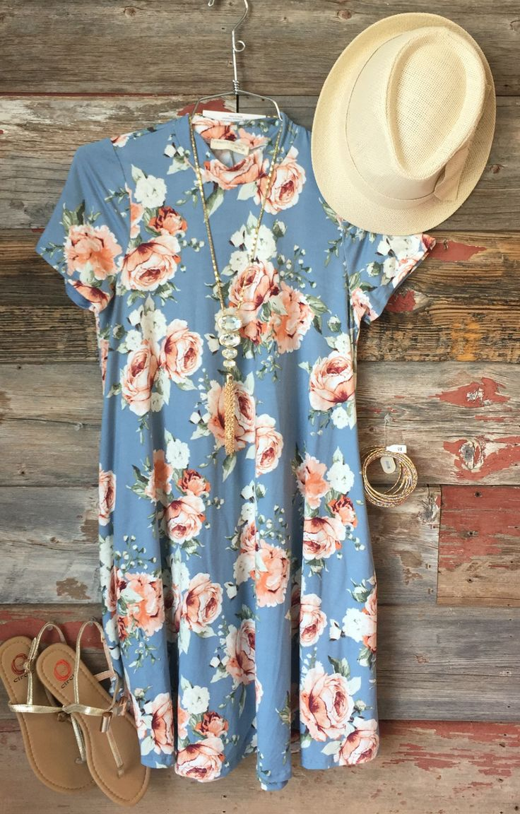 Baby Blues Floral Pocket Dress from privityboutique