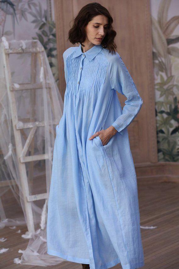 9cc95d15ad button down linen dress, linen dress, pintuck exquisite dress, long sleeve  maxi dress