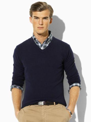 Cashmere V-Neck Sweater - Polo Ralph Lauren Polo Ralph Lauren - RalphLauren .com