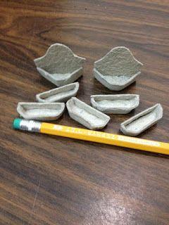 Drora's minimundo - flower pots from egg cartons