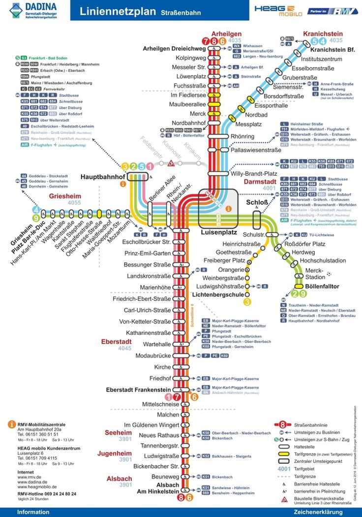 Darmstadt tram map