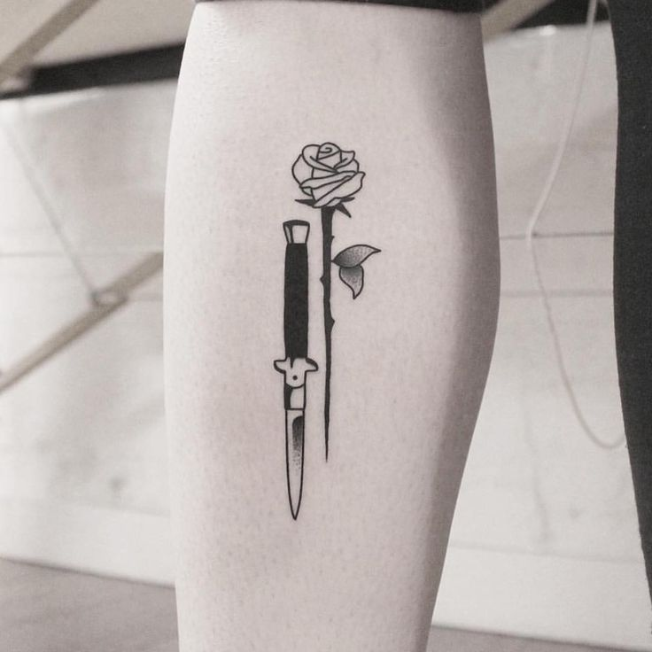 Stiletto Knife Tattoo Designs: Pin By Hannah Young On Tattoo