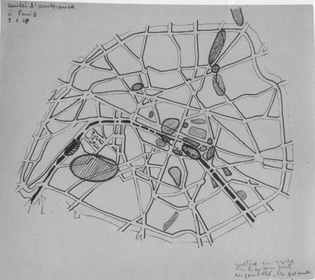 Croquis de 1957 , Guy Debord
