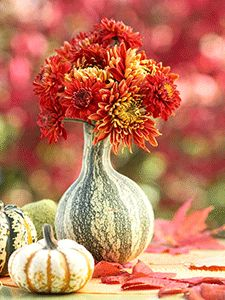 Pumpkin Vase Fall Decor Flowers Accessori