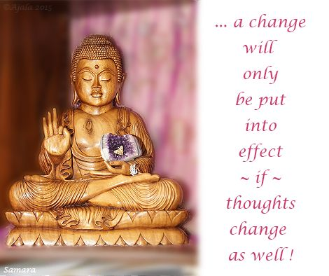 ... a change will only be put into effect ~if~  #thoughts #change as well !