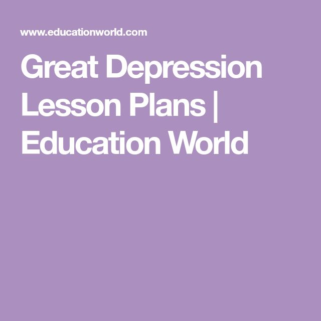 Great Depression Lesson Plans | Education World